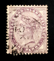 1881 Queen Victoria,  One Penny, Great Britain, England, *,**, Or Used - Used Stamps