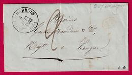 CAD TYPE 13 ARC EN BARROIS HAUTE MARNE BOITE RURALE A GIEY SUR AUJON DECIME RURAL POUR LANGRES - 1801-1848: Precursori XIX