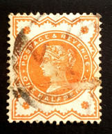 1887-1892 Queen Victoria, 1/2P, Great Britain, England, *,**, Or Used - Used Stamps