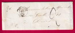 CURSIVE 23 ST APRE DORDOGNE CAD TYPE 15 PERIGUEUX 1850 POUR PARIS INDICE 13 - 1801-1848: Precursori XIX