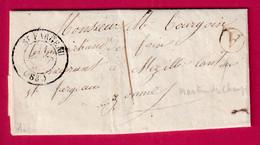 CAD TYPE 15 ST FARGEAU YONNE TAXE LOCALE 1 BOITE RURALE A ST MARTIN DES CHAMPS CAD TYPE 22 EN ARRIVE MEZILLES - 1801-1848: Precursori XIX