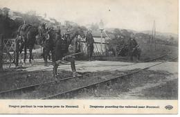 A/455          Guerre De 1914/1918 -   77     Nanteuil  -  Dragons Gardant La Voie Ferrée - War 1914-18
