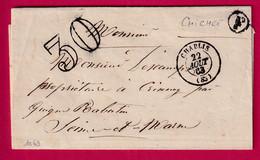 CAD TYPE 15 CHABLIS YONNE BOITE RURALE F CHICHEE GUIGNES RABUTIN 1863 - 1801-1848: Precursori XIX