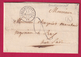 CAD TYPE 15 COMBEAUFONTAINE BOITE RURALE K CONFRACOURT POUR RAY SUR SAONE - 1801-1848: Precursori XIX