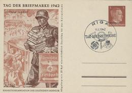Europa - Allemange - Empire - Deutschland III Reich - Postkarte  Tag Der Briefmarke  1942 - Entiers Postaux
