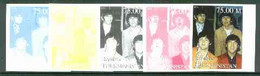 Turkmenistan 1999 The Beatles From Events & People Of The 20th Century, Imperf Progressive Proofs Comprising The 4 Basic - Turkménistan
