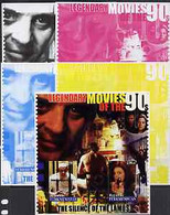 Turkmenistan 2002 Legendary Movies Of The '90's - Silence Of The Lambs, Large Sheetlet 2 Values Imperf Progressive Proof - Turkménistan