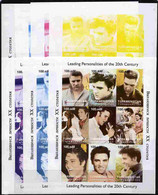 Turkmenistan 1998 Leading Personalities Of The 20th Century (Elvis Presley) Sheetlet Complete Set Of 9 Values - The Set - Turkménistan