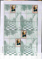 Turkmenistan 1999 Great People Of The 20th Century (Pope) Uncut Perforated Proof Sheet 4 Souvenir Sheets With Pope Stamp - Turkménistan