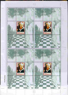 Turkmenistan 1999 Great People Of The 20th Century (Pope) Uncut Perforated Proof Sheet 4 Souvenir Sheets Each With Pope - Turkménistan