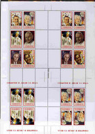 Turkmenistan 2000 Personalities Uncut Perforated Proof Sheet Two Sheetlets Of 6 And Two Sheetlets Of 4, U/m And Scarce W - Turkménistan