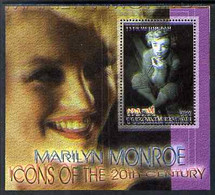 Turkmenistan 2001 Icons Of The 20th Century - Marilyn Monroe Perf S/sheet #2 With Superb Misplacement Of Magenta Giving - Turkménistan