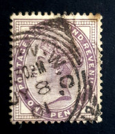 1881 Queen Victoria, One Penny, 1P, Great Britain, England, Used - Used Stamps