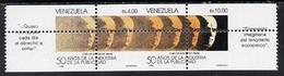 Venezuela 1988 Publicity Industry 50th Anniversary Se-tenant Pair With Vert & Horiz Perfs Grossly Misplaced (stamps Quar - Venezuela