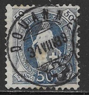 Switzerland Scott # 86 Used Helvetia Perf 11 1/2 By 12 Wmk Type L,1882, CV$27.50 - Usati