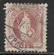 Switzerland Scott # 87b Used Helvetia Perf 11 1/2 By 12 Wmk Type Ll, 1901, CV$350.00, Old Hinge Remnants - Usati