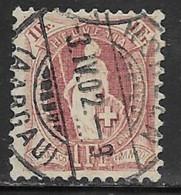 Switzerland Scott # 87c Used Helvetia Perf 11 1/2 By 11 Wmk Type L, 1891, CV$32.50 - Usati