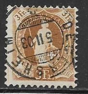 Switzerland Scott # 88b Used Helvetia Perf 11 1/2 By 12 Wmk Type Ll, 1901, CV$32.50 - Usati