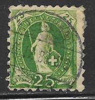Switzerland Scott # 90 Used Helvetia Perf 9 1/2 Wmk Type L, 1888, CV$24.00, Some Paper On Back - Usati