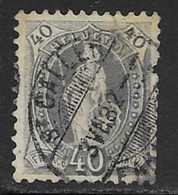 Switzerland Scott # 84b Used Helvetia Perf 11 1/2 By 12 Wmk Type Ll,1901, CV$47.50, Edge Defect - Usati