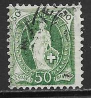 Switzerland Scott # 96 Used Helvetia Perf 11 1/2 By 11 Wmk Type Ll, 1899, CV$50.00 - Usati