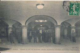 Paris Transports Urbains Le Métropolitain - Station Souterraine De La Gare Saint Lazare - édit. ND Phot N° 4031 Circulée - Metro, Estaciones
