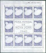 BRAZIL # 496A   -  NEW YORK INTERNATIONAL EXHIBITION -  VICTORIA REGIA  S/S  - 1940 - Neufs