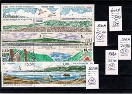 SAINT PIERRE MIQUELON Paire Avec Vignette Triptyque Côte 42 Euros - Collections, Lots & Séries