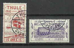DENMARK THULE 1935/36 Michel 3 - 4 O - Local Post Stamps