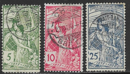 Switzerland Scott # 98-100 Used UPU Allegory, 1900, CV$53.50 - Usati