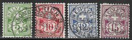 Switzerland Scott #115-8 Used Numeral, 1905, CV$33.75 - Usati