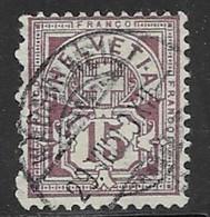 Switzerland Scott #118 Used Numeral, 1905, CV$27.50 - Usati