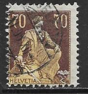 Switzerland Scott #141 Used Helvetia, 1908, CV$27.50 - Used Stamps