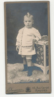Originele Foto - Kabinetfoto - Foto Op Karton - Kind Met Apart Kapsel - Fotograaf: Jacqmain, Anvers - Personnes Anonymes