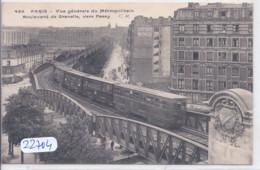 PARIS- VUE GENERALE DU METROPOLITAIN- BOULVARD DE GRENELLE VERS PASSY - Metro, Estaciones