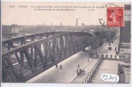 PARIS- VUE GENERALE DU METROPOLITAIN- BOULEVARD DE LA CHAPELLE ET BLD DE ROCHECHOUART - Metro, Estaciones