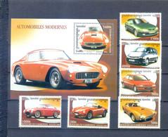CAMBODIA 2001 CARS  SET + BLOCK MNH - Cambodia