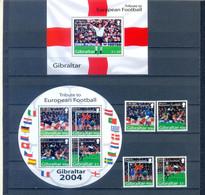 GIBRALTAR SET + BLOCKS FOOTBALL  2004  MNH - Autres