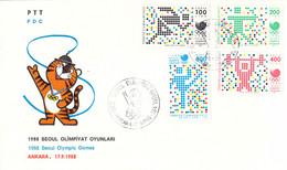 Turkey FDC  1988 Seoul Olympic Games  (DD25-58) - Summer 1988: Seoul
