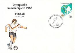 Korea Cover 1988 Seoul Olympic Games Football - German Team, Winner Of Bronze (DD25-58) - Summer 1988: Seoul