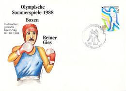 Korea Cover 1988 Seoul Olympic Games Boxing - German Reiner Gies, Winner Of Bronze (DD25-58) - Summer 1988: Seoul