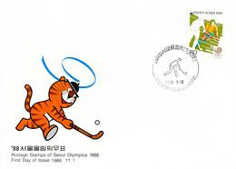 Korea FDC 1988 Seoul Olympic Games Hockey (DD25-58) - Summer 1988: Seoul