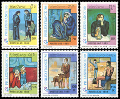 Laos 1989 - YT 919/924 ; Mi# 1162/67 MNH Paintings By Picasso - Laos