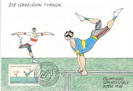 Liechtenstein Maximumcard 1988 Seoul Olympic Games (DD25-57) - Summer 1988: Seoul