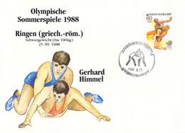 Korea Cover 1988 Olympic Games In Seoul Wrestling - German Gerhard Himmel, Won Silver Medal (DD25-56) - Summer 1988: Seoul