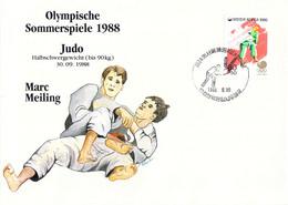 Korea Cover 1988 Olympic Games In Seoul Judo German Marc Meiling, Won Silver Medal (DD25-56) - Summer 1988: Seoul