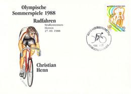 Korea Cover 1988 Olympic Games In Seoul Cycling, TTT - German Christian Henn, Won Bronze Medal (DD25-56) - Summer 1988: Seoul