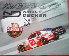 Kaz Grala And Natalie Decker ( American Race Car Driver) - Authographs