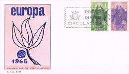[C0568] España 1965, FDC Serie Europa (NS) - FDC
