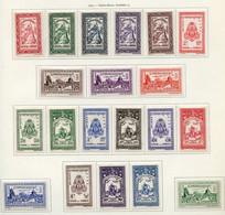 Cambodge - Kambodscha - Cambodia 1955 Y&T N°22 à 41 - Michel N°31 à 50 * - Sujets Divers - Cambodia